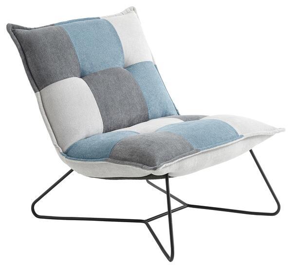 Sessel in Blau und Grau 'Vico'