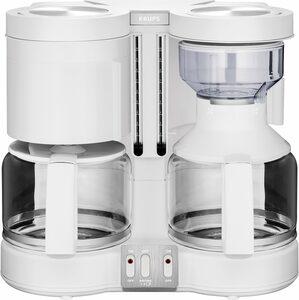 Krups Filterkaffeemaschine Duothek Plus KM8501, 1l Kaffeekanne, Papierfilter 1x4, Kombiautomat für Kaffee und Tee