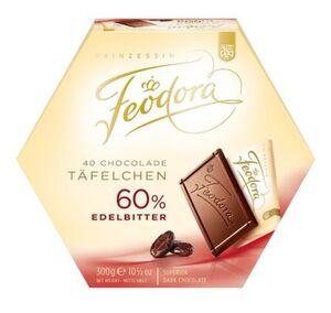 Feodora Chocoladen-Täfelchen Edelbitter 60%, 300 g
