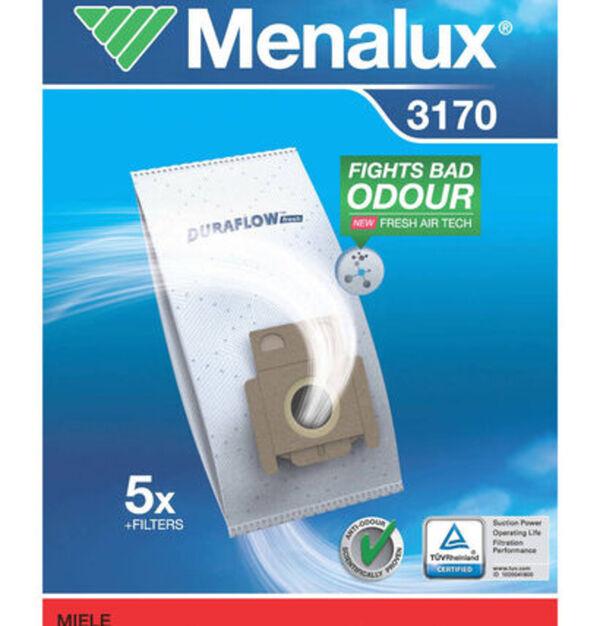 Menalux Staubbeutel 3170 für Miele und weitere