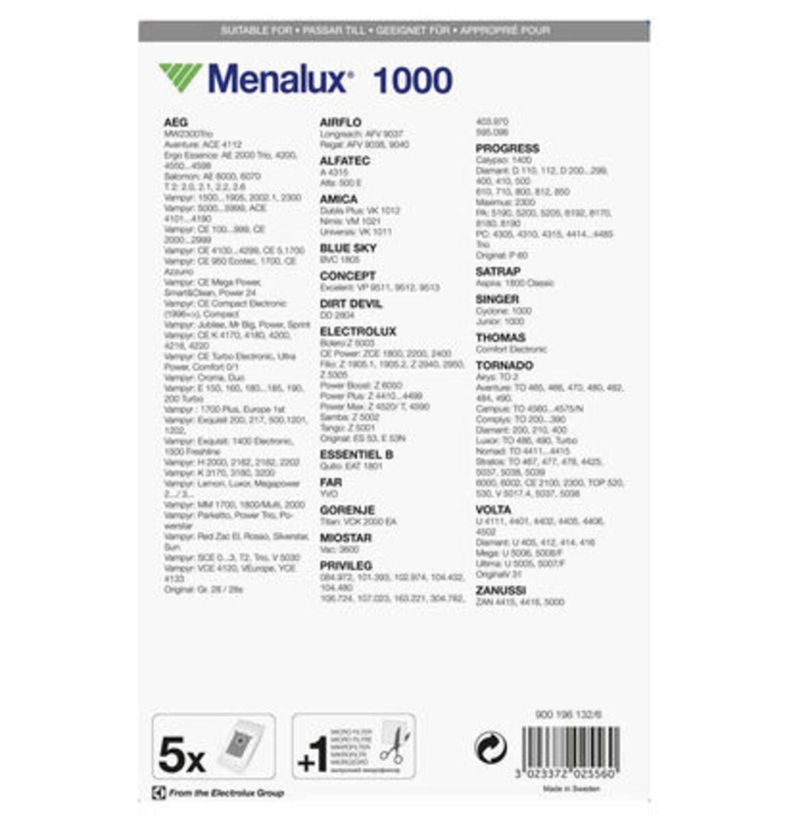 Bild 3 von Menalux Staubbeutel 1000 für AEG und weitere