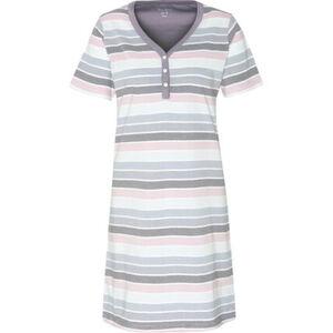 Desirée Sleepshirt, Henley-Ausschnitt, Ringel, für Damen