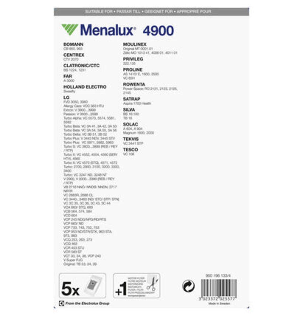 Bild 3 von Menalux Staubbeutel 4900 für LG und weitere