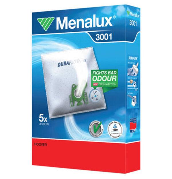Menalux Staubsaugerbeutel Duraflow 3001 5-teilig
