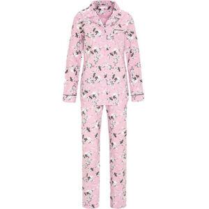 Desirée Pyjama, Knopfeiste, Reverskragen, floral, für Damen