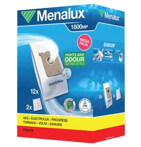 Menalux Duraflow 1800 Staubsaugerbeutel, 12-teilig, für AEG, Philips und weitere