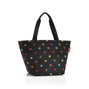 Reisenthel Shopper m dots , Zs7009 , Multicolor, Schwarz , Textil , Punkte , verschließbar, großes Hauptfach , 0035550085