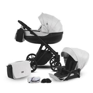 Knorr Knorr-baby kinderwagenset yap hellgrau , 2420-05 YAP  *mb* , Metall , 60x125x98 cm , Fußstütze abklappbar, kugelgelagerte Räder, 5-Punkte-Gurt,Fußstütze abklappbar, kugelgelagerte Räder,