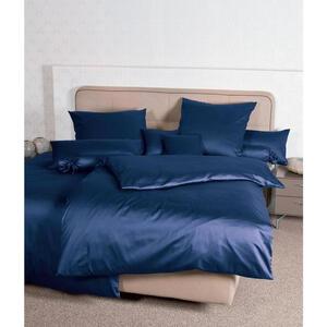 Janine Kissenhülle dunkelblau 40/40 cm , Giacomo , Textil , Uni , 40x40 cm , Makosatin , 003361067410