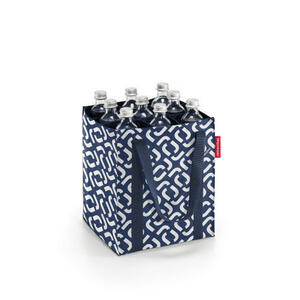 Reisenthel Einkaufstasche , Zj4073 , Blau, Weiß , Textil , Uni , 24x28x24 cm , faltbar , 003555042101