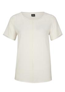 Damen Fabric-Mix-Shirt mit Ziernaht