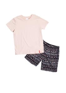 Kurzer Baumwoll-Pyjama