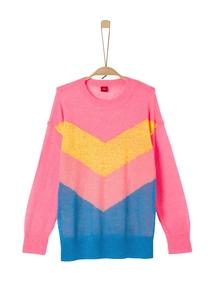 Leichter Pullover mit Neonfarben