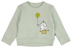 HEMA Newborn-Sweatshirt, Elefant Blau