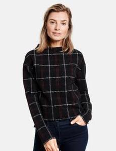 Kariertes Sweatshirt Schwarz 40/M