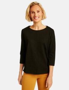 Sweatshirt mit Jacquardoptik Schwarz 34/XS