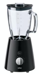 Braun Standmixer JB 3060.BK, 800 Watt, ThermoResist Glas-Mixaufsatz (1,75 Liter)