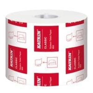 1 Rolle Katrin Classic System Toilettenpapier 2-lagig, 800 Blatt weich, weiß