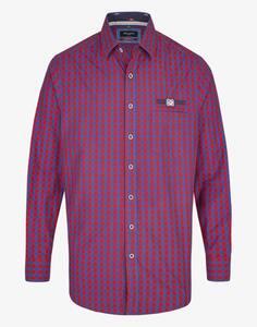 Bexleys man - Freizeithemd mit Vichy-Karo und Details, MODERN FIT