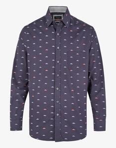 Bexleys man - Freizeithemd mit Sneakerprint, MODERN FIT