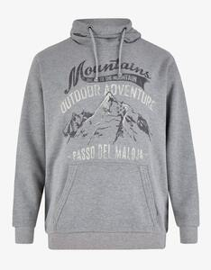 Big Fashion - Kapuzen-Sweatshirt mit großem Frontdruck