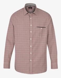 Bexleys man - Gepunktetes Hemd mit einer Brusttasche und Paspelstreifen, MODERN FIT