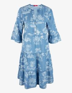 s.Oliver - Tunika-Kleid mit Volant, Lyocell-Denim