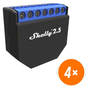 4er-Set Shelly 2.5 WiFi-Switch mit Messfunktion