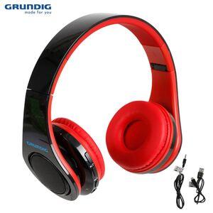 Grundig Bluetooth-Stereo-Kopfhörer mit LED-Diskolicht Rot/Schwarz