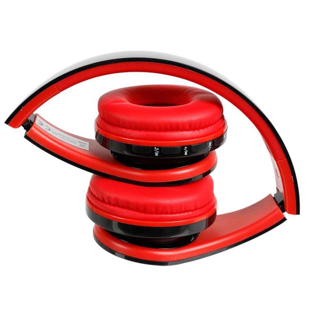 Bild 2 von Grundig Bluetooth-Stereo-Kopfhörer mit LED-Diskolicht Rot/Schwarz