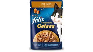 felix Katzennassfutter Sensations Gelees mit Huhn & Karotte