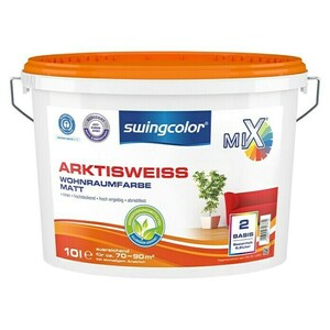swingcolor Mix Wandfarbe Arktisweiß