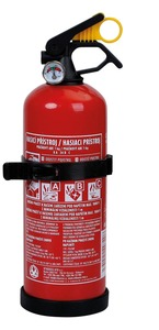 Aroso Feuerlöscher mit Manometer - Trockenpulver 1 kg