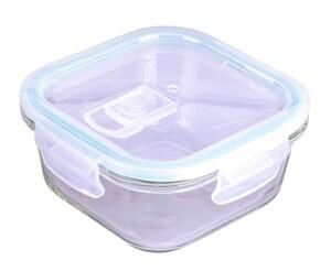 Steuber Frischhaltedose aus Glas, quadratisch, ca. 520 ml
