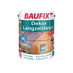 BAUFIX Dekor-Langzeitlasur mahagoni 5 L 2er Set