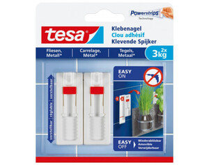 tesa®Klebenagel Fliesen & Metall, verstellbar