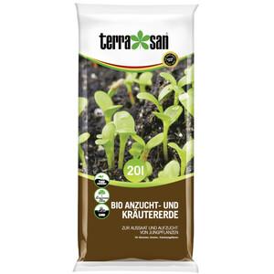 terrasan® Bio Anzucht- und Kräutererde 20 Liter, torfreduziert