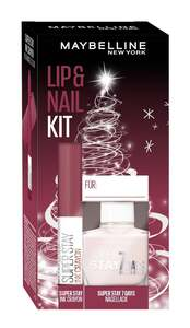 Maybelline New York X-Mas Set Super Stay Ink Crayon Nr. 85 + Super Stay 7 Days Nr. 286 Nagellack