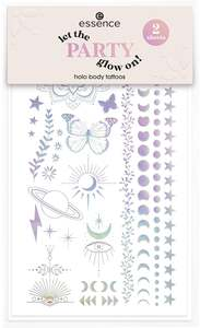 essence let the party glow on! holo body tattoos 01
