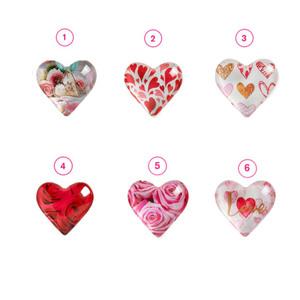 """Magnet Herz 4,2 x 3,9 cm """"Liebe"""" in verschiedenen Varianten"""