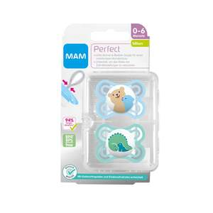 MAM Beruhigungssauger Perfect Silikon Bär/Dino 0-6 Monate