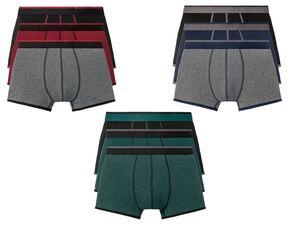 LIVERGY® Boxer Herren, 3 Stück, mit Baumwolle