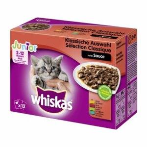 Whiskas Junior Sauce 12x100g Klassische Auswahl