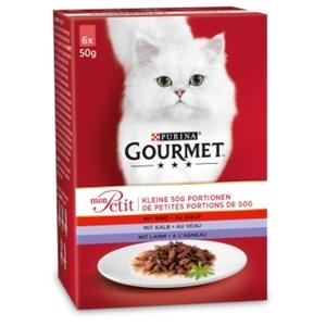Gourmet Mon Petit 8x6x50g mit Rind, Kalb, Lamm