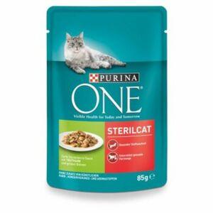 Purina ONE Sterilcat 24x85g mit Truthahn und grünen Bohnen