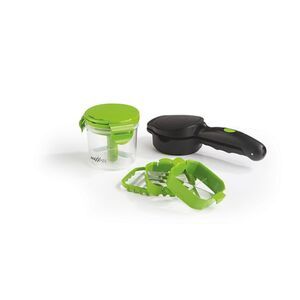 MAXXMEE Multi-Schneider Chop n Slice Compact Plus 7-tlg. schwarz/limegreen