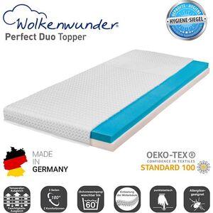 Wolkenwunder Topper Perfect DUO Wendetopper mit Spezial-Kombi-Schaum... 90x200 cm