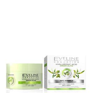 Eveline Nature Line Tages+Nachtpflege Creme Olivenöl gegen Falten 50 ml für Damen