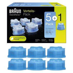 Braun Clean&Renew Reinigungskartusche 6er-Pack, Blau