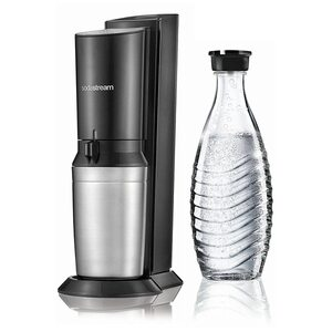 SodaStream Crystal 2.0 Titan Wassersprudler ohne Zylinder schwarz, silber